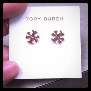 NWT Tory Burch Rose Gold Stud Earrings
